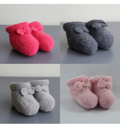 Chaussons filles 6-9 mois